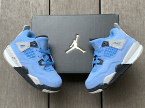 Nike Air Jordan Retro 4 IV University Blue UNC - Toddler Size 6C (TD) BQ7670-400
