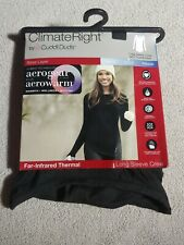 Climate right cuddle duds xxl Long Sleeve Crew Thermal black top far-infrared