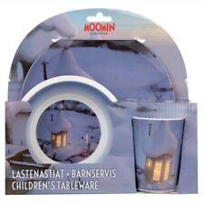 Moomin Animation Moominvalley Children Melamine Set Plate Tumbler Bowl Winter