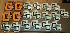 19 Vintage Wool HIGH SCHOOL LETTERS - SWEATER JACKET Track Football Gold Green