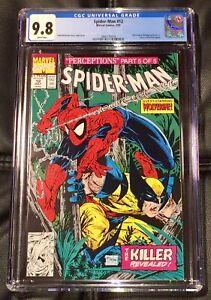 Spider-Man #12 CGC 9.8 1991 Marvel Comic Wolverine & Wendigo App Sasquatch Cameo