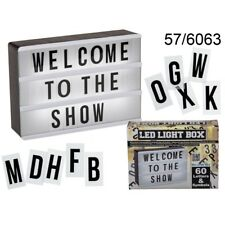 LED CINEMATIC LIGHT UP BOX WITH 60 LETTERS & SYMBOLS MESSAGE SIGN 15x10.2cm NEW