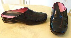 Nike Air G Series Women's Shoes Slides Black Patent Leather SZ 9B