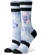 Stance Women's Hawaii Chain Crew Socks in Blue