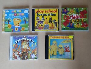 Play School Favourites Hickory Dickory, Best Of, Big Ted + Wiggles Christmas CDs