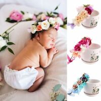 Baby Party Kids Headwear Rose Flower Hairband Crown Headband Floral Garland