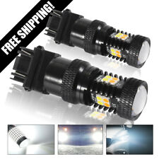 3157 3457A White Amber Dual Color Switchback LED Turn Signal Light Bulb LD1869