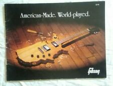 GIBSON LES PAUL GS ES VICTORY FLYING FUTURA CATALOGO 1983 CHITARRE BASSO GUITAR