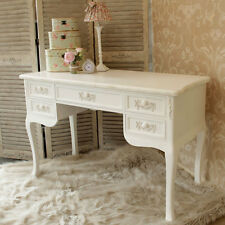 Antique white ornate dressing table desk shabby french chic bedroom furniture