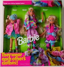 10143 Barbie Sharin' Sisters Gift Set Barbie Stacie Skipper by Mattel W/ CLOTHES