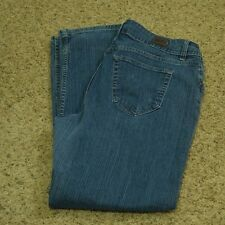 Riders Jeans by Lee Women's Straight Stretch Faded 18M (Measures 35 x 31)