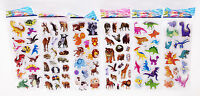 6 sheets Animals Stickers lot Kids Study Teachers Kindergarten Reward Toys Gift