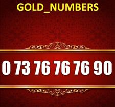 GOLD MOBILE PHONE NUMBER MEMORABLE GOLDEN EASY VIP 07376767690