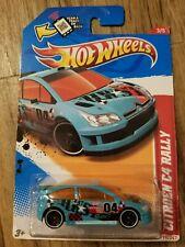 Hot Wheels Citroen C4 Rally Light Blue 2012 Thrill Racers New on Card READ DESC