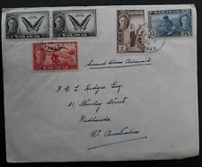 RARE 1956 Sarawak Cover ties 5 stamps cancelled Kuching to Australia