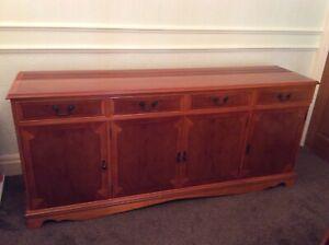 Sideboard Highly Polished Yew Wood