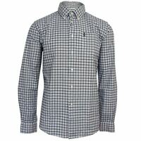 BARBOUR MENS GINGHAM 11 GREY TAILORED SHIRT