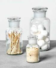 Hearth & Hand Magnolia Apothecary Glass Storage Bottles Canisters Set of 3 Nwt
