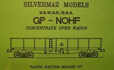 "GP NSWGR BOGIE OPEN WAGON KIT HO ""Silvermaz Model Railways"" Plastic injection"