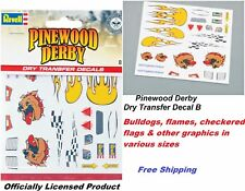 Revell Pinewood Derby Dry Transfer Decal B Bulldog -  Free Shipping