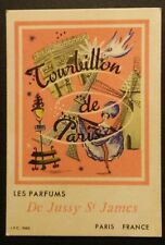 Carte Parfumée De Jussy St James Tourbillon de Paris/Targeta perfumada antiga .