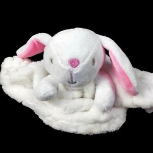 Security Blanket with White Bunny Rabbit pink ears Bunny Loves Me