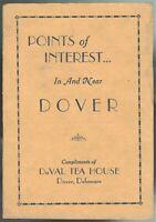 Brochure DuVal Tea House Guests Points of Interest Dover DE Art Deco c1930s