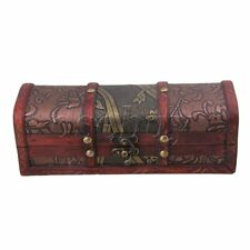 Retro Old Stye Wooden Jewelry Box Case Storage Crate Box for Women