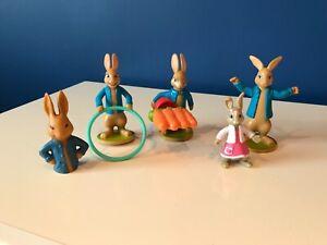 Figure bundle cake toppers Peter rabbit McDonald's toys & finger hollow figure