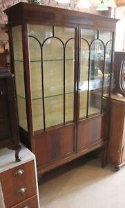 Edwardian Mahogany Glass Display Cabinet