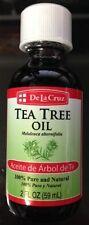 De La Cruz Tea Tree Oil 2 fl oz. Aceite de Arbol de Te