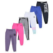 Victoria's Secret розовый тренировочные брюки классические бегуна зал активная одежда низ новые