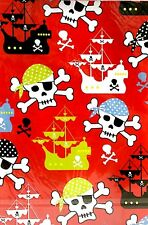 2 Sheets Of Pirate Gift Wrap & 2 Gift Tags