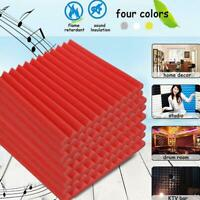 "12 ""x12"" Acoustic Foam Panel Wedge Studio Soundproofing Tiles Wall Portable O5J6"