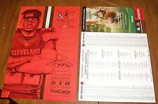 NFL JABRILL PEPPERS Cleveland Browns Poster & 2017 Roster NEW YORK GIANTS!  NEW!