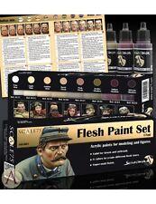 Escala 75 colores carne Pintura acrílica Set 8 botellas