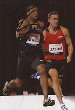 Athletics: Calesio Newman Signed 6x4 Action Photo+Coa *Usa*