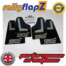 rallyflapZ SUBARU IMPREZA Saloon (08-14) Mud Flaps Black STi Silver 4mm PVC