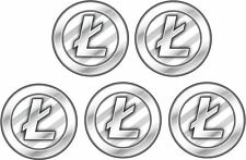 Litecoin LTC  5 pack stickers decal FREE SHIP