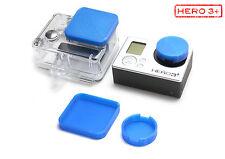 Linsen Schutz f. GoPro Go Pro HERO3+ Zubehör Lens Cap Protector Abdeckung Blue