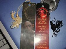 Hobbit Lord Of The Rings 2 Bookmark set Gollum and The One Ring W/ Tassels