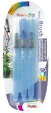 Pentel Aquash 3 Brush Pen Set Fine Medium Broad - Water Colours Pencils