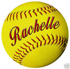 """1 Baseball and 1 Softball 6"""" Decal Personalize Gifts Girls Boys Ladies Men"""