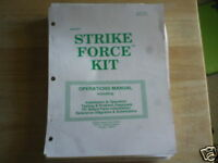 STRIKE FORCE WITH SCHEMATICS MIDWAY video game manual