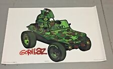 x1 Vintage 2001 GORILLAZ  Poster 22 1/2 x 34 1/2 inches  (white)