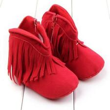 Baby Girl Soft Sole Snow Boots Toddler Tassel Moccasin Crib Shoes Newborn to 18M