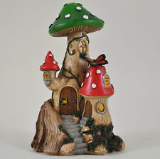 Magical Mushroom House Garden Ornament Pixie Elf Christmas Home Outdoor 39604