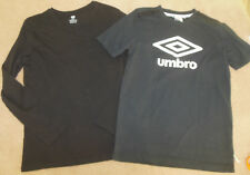 Boy H&M, Umbro bundle x 2 t-shirts tops 10-11 y excellent cond or new