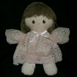 """11"""" VINTAGE 1984 APPLAUSE SHERRY BABY DOLL PINK DRESS STUFFED ANIMAL PLUSH TOY"""