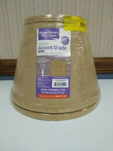 2 New, Better Homes and Gardens Accent Lamp Shade, Burlap.